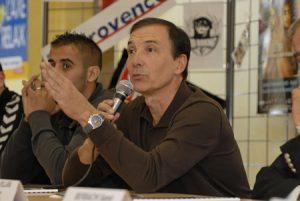 Erick Roméas en conférence de presse